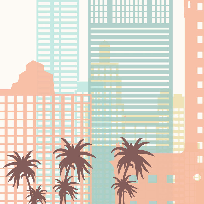 Miami Skyline: Cityscape Art Print, Home Decor