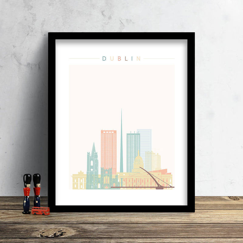 Dublin Skyline: Cityscape Art Print, Home Decor