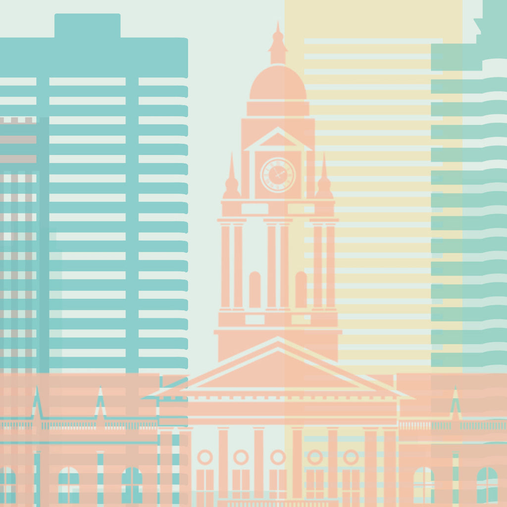 Cape Town, South Africa Skyline: Cityscape Art Print, Home