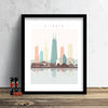 Chicago Skyline: Cityscape Art Print, Home