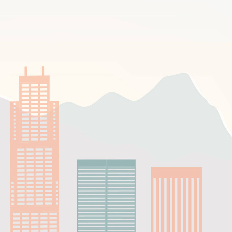 Los Angeles Skyline: Cityscape Art Print, Home Décor