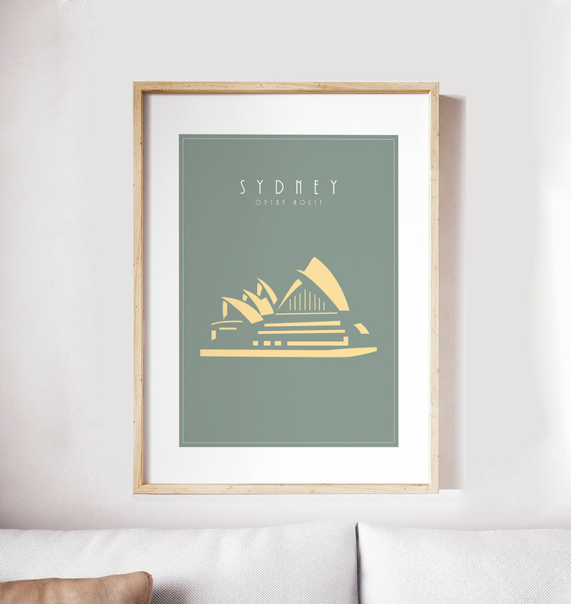 Sydney, Opera House, Australia: Travel Poster, World Landmarks Print