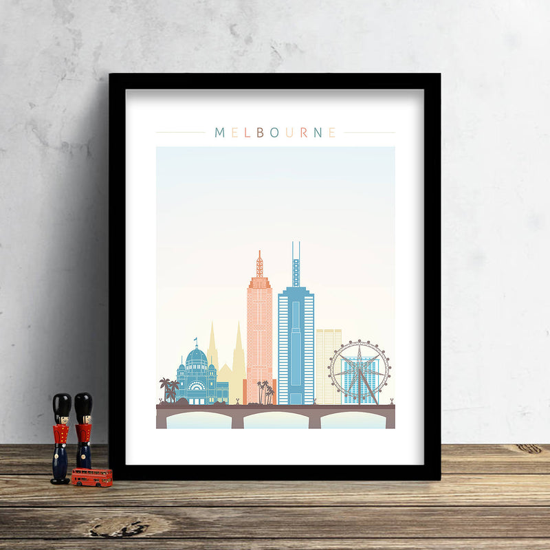 Melbourne Skyline: Cityscape Art Print, Home Décor