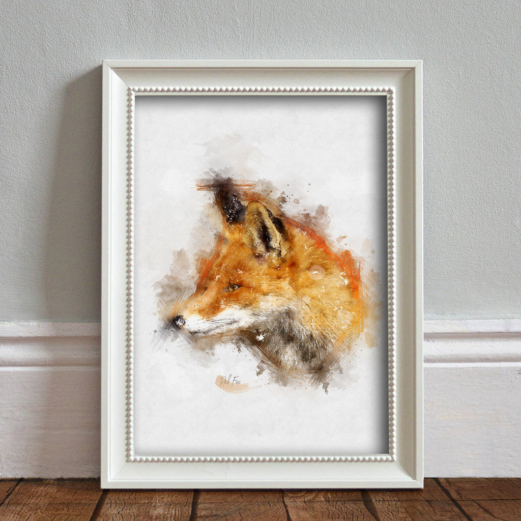 Red Fox: Watercolour Illustration Wildlife Art Print