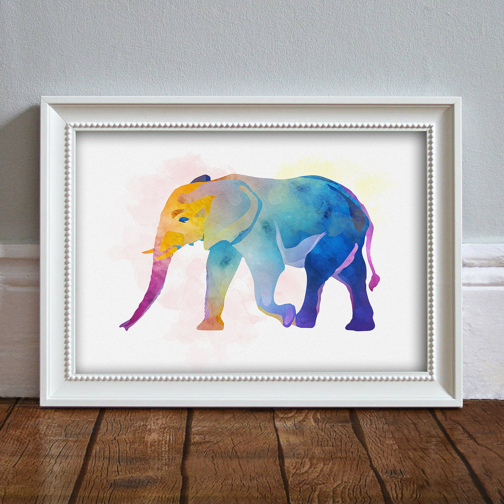 Elephant: Watercolour Print For Nursery, Home Décor - Africa Animal Illustration Series