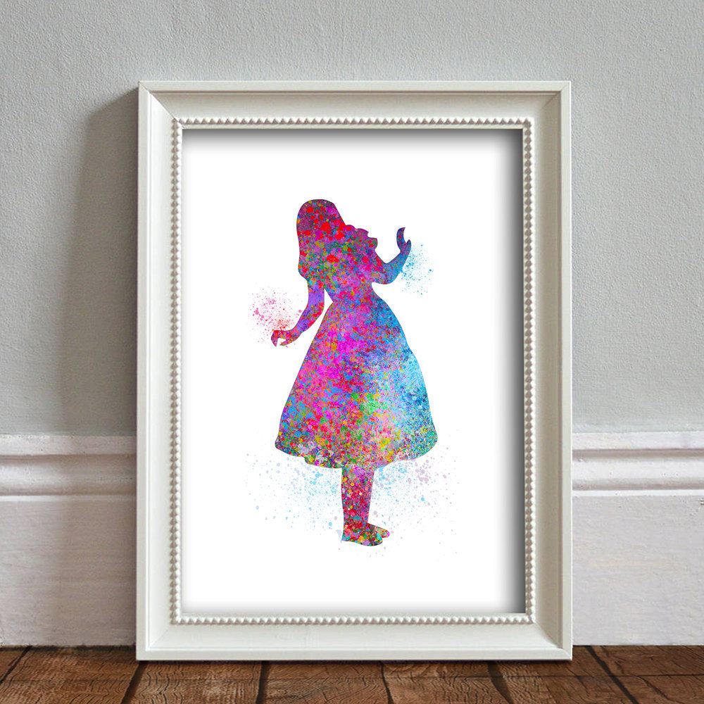 Alice in Wonderland: Watercolour Print For Nursery, Home Decor - Splash Art Series