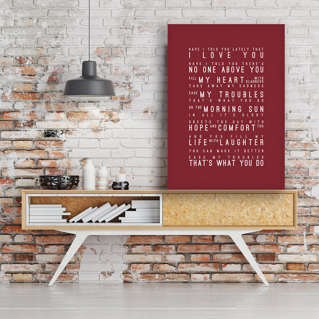 Van Morrison Have I Told You Lately Inspired Lyrics Typography Print