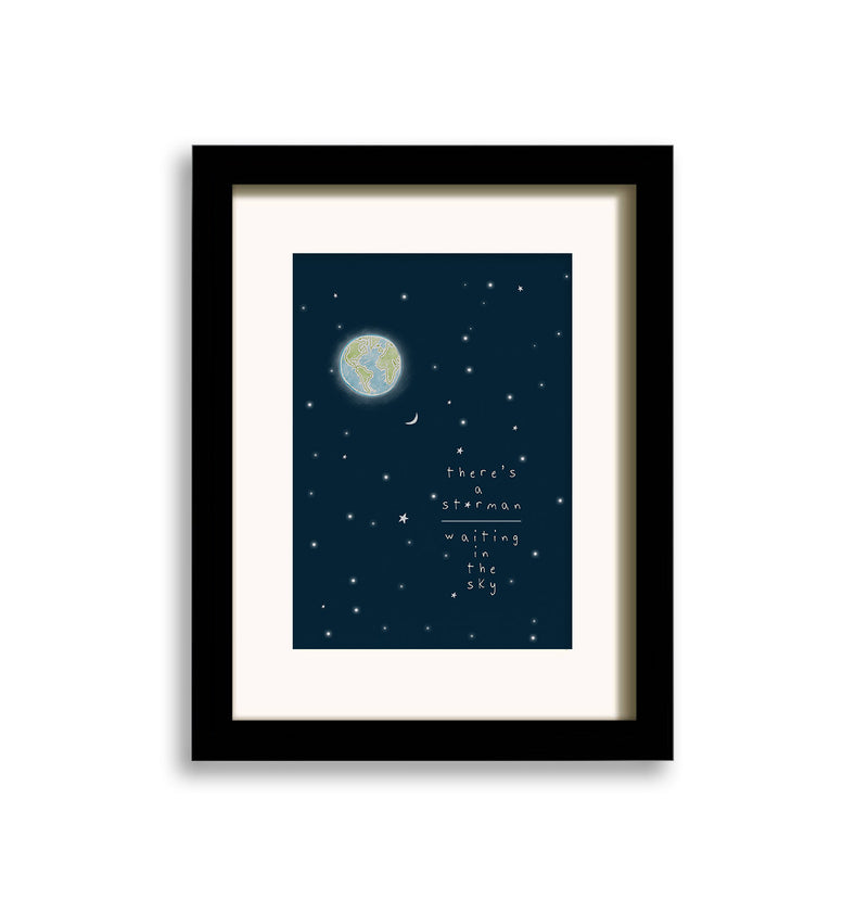 Starman, David Bowie Inspired Art: Illustraiton Print