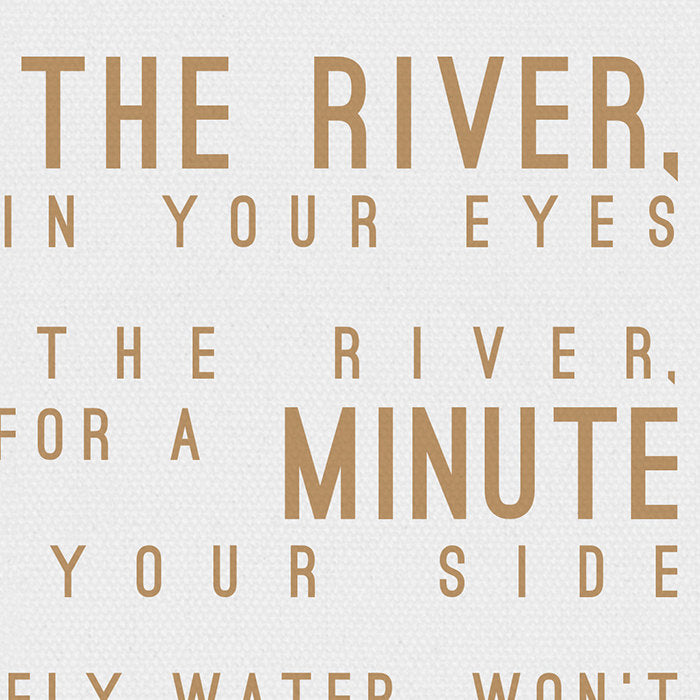 James Bay Hold Back The River Inspired Lyrics Typography Print