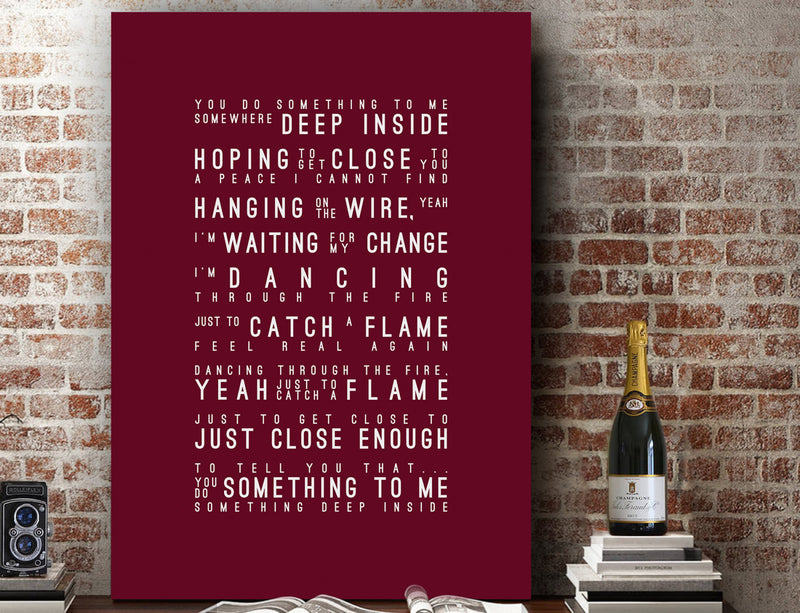 Paul Weller You Do Something To Me Inspired Lyrics Typography Print