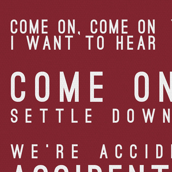 Counting Crows Accidentally In Love Inspired Lyrics Typography Print