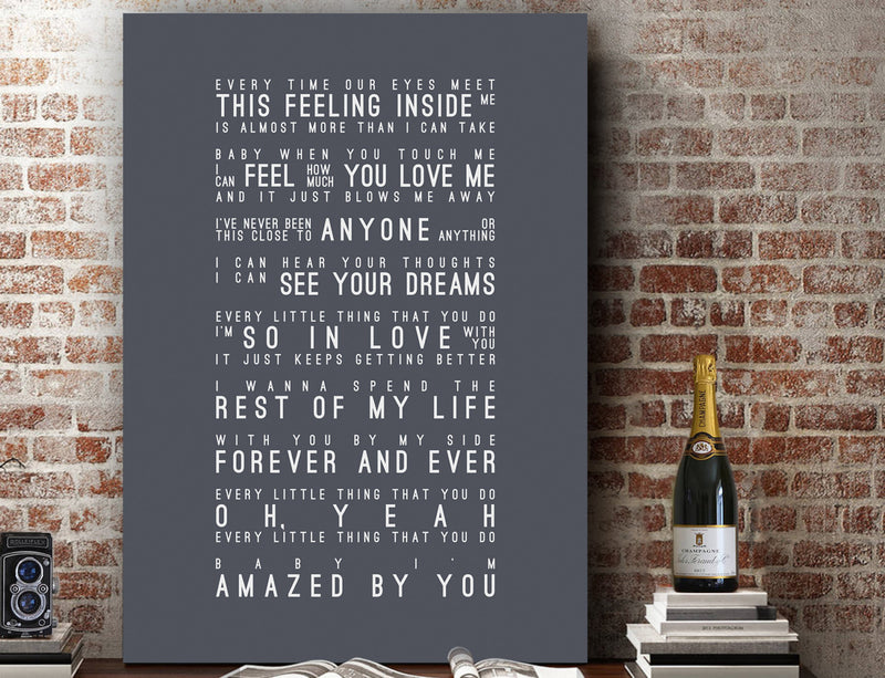 Lonestar Amazed Inspired Lyrics Typography Print