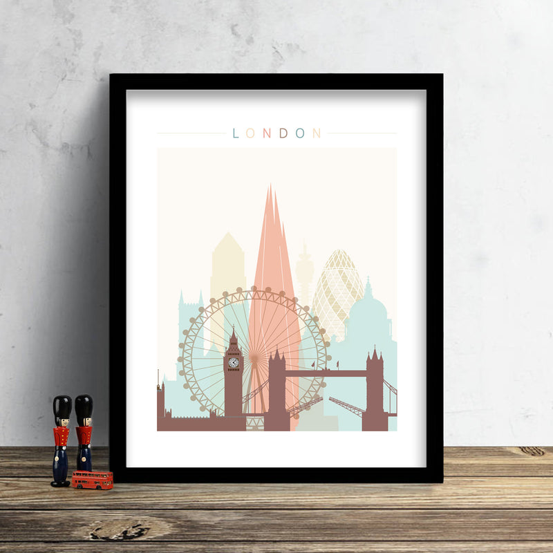 London Skyline: Cityscape Art Print, Home