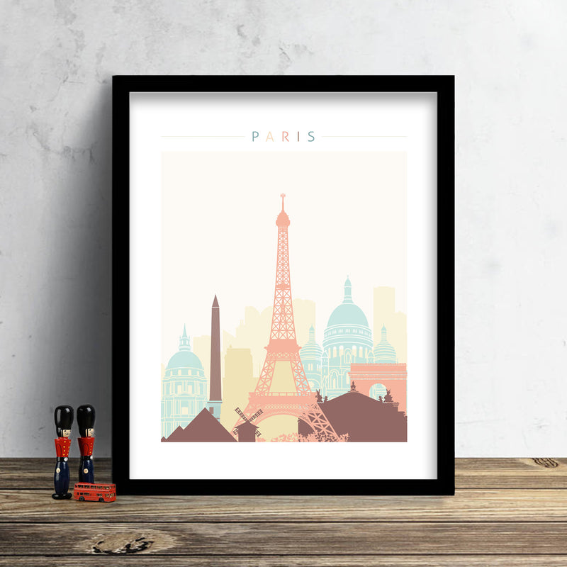 Paris, France Skyline: Cityscape Art Print, Home Decor