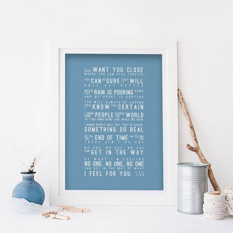 Alicia Keys No One Inspired Lyrics Typography Print