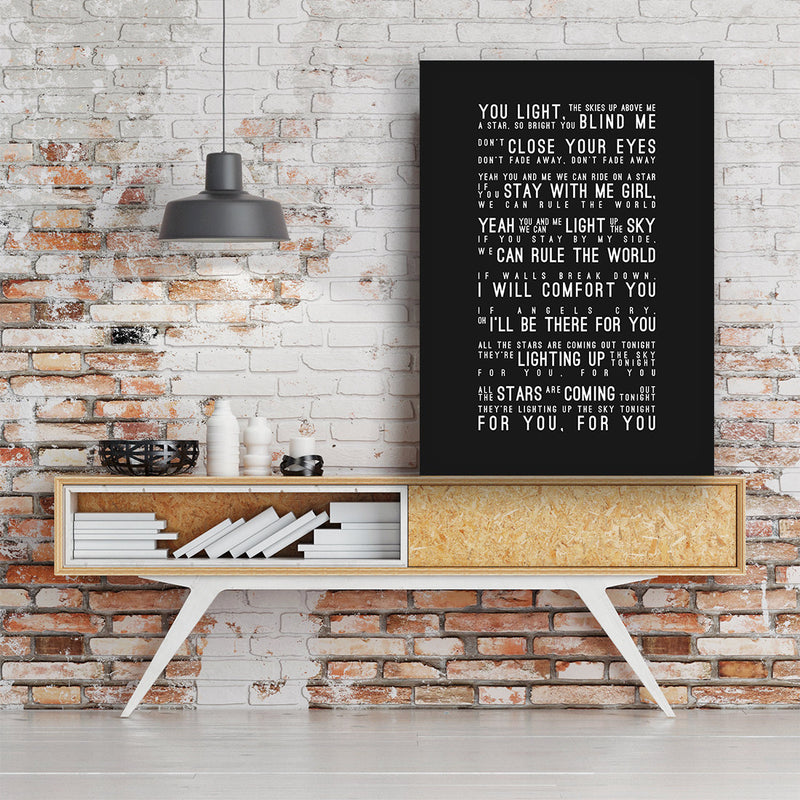 Take That Rule The World Inspired Lyrics Typography Print