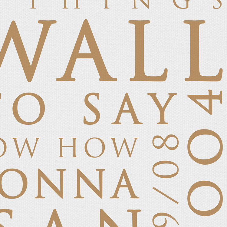 Oasis Wonderwall Inspired Lyric Art: Personalised Typography Print