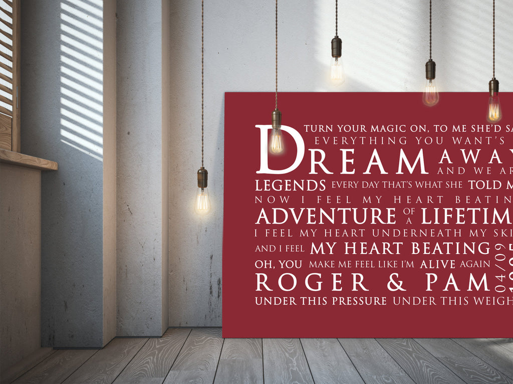 Coldplay Adventure Of A Lifetime Inspired Lyric Art: Personalised Typography Print