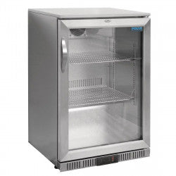 Polar Counter Back Bar Cooler with Hinged Door Stainless Steel 138Ltr