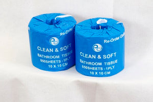 Toilet Rolls 1 Ply x 850 sheets