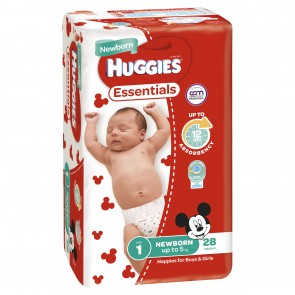 Huggies Essentials Infant 4-8kg 216's
