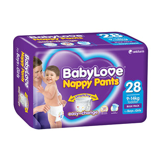 Babylove Nappy Pants Toddler 9-14kg 28's