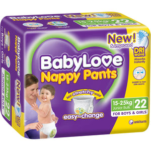 Babylove Nappy Pants Junior 15-25kg 22's
