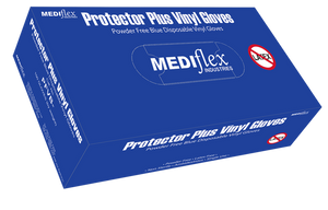 Mediflex Vinyl Glove (Blue) Powder Free
