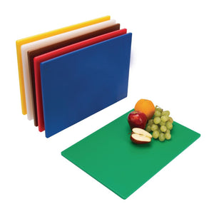 Hygiplas Standard Low Density Chopping Board Set 6pk