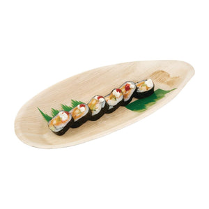 Biodegradable Palm Leaf Oval Plates 320mm