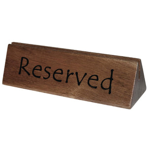 Acacia Menu Holder & Reserved Sign