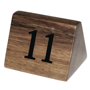 Acacia Table Number Signs Numbers 11-20