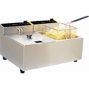 Apuro Double Pan Bench Top Fryer 2 x 5Ltr