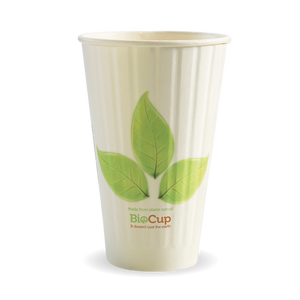 460ML / 16OZ (90MM) LEAF DOUBLE WALL BIOCUP