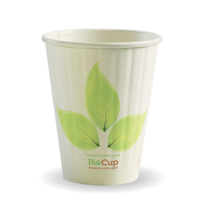 255ML / 8OZ (80MM) LEAF DOUBLE WALL BIOCUP