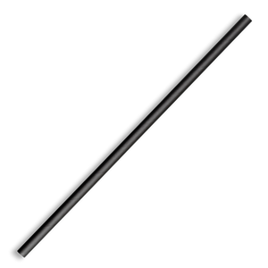 6mm Regular Black Paper Straws