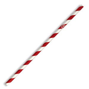 6mm Regular Red Stripe Paper Straws