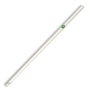 6mm Biopak Regular White Paper Straws