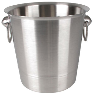 Brushed Stainless Steel Wine And Champagne Bucket