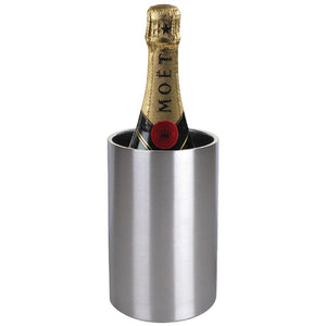 Brushed Stainless Steel Wine And Champagne Cooler