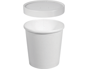 Hot or Cold Vented Paper Container 26oz