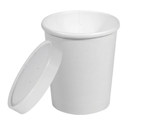 Hot or Cold Vented Paper Container 32oz