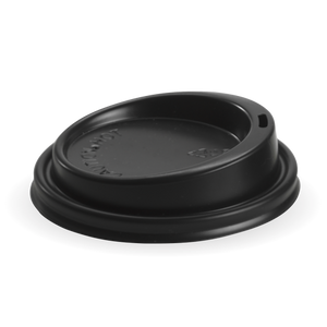 Lid Black Biopak Large Lid 8(90mm),12,16 & 20oz