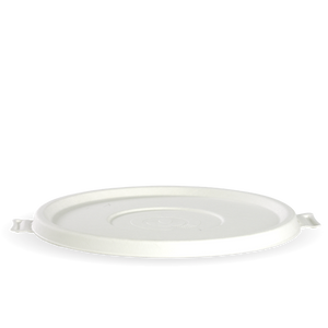 Lid White Biopak Bowl 24-40oz