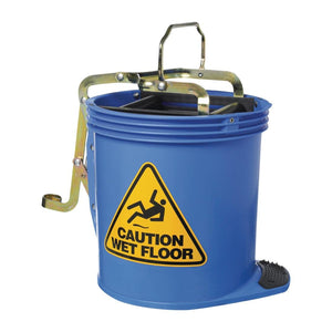 Contractor Roller Wringer Bucket Blue 16 Litre
