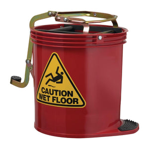 Contractor Roller Wringer Bucket Red 16 Litre