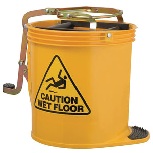 Contractor Roller Wringer Bucket Yellow 16Ltr