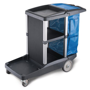 Oates Platinum Janitors Cleaning Cart