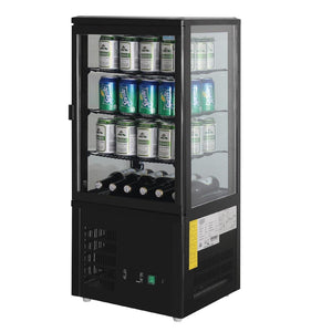 Polar Chilled Display Cabinet Black 68Ltr