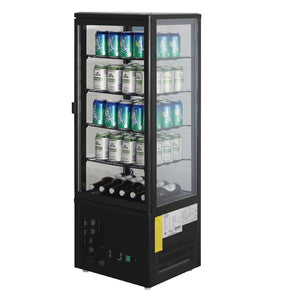 Polar Chilled Display Cabinet Black 98Ltr